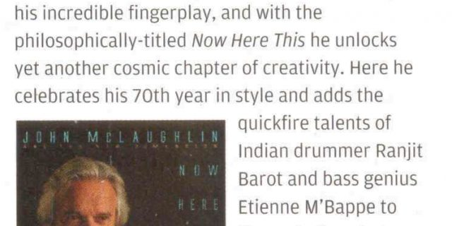 Recent Reviews for 'Now Here This'  in Guitar & Bass (UK ), Bass Guitar Magazine (UK) and Drummer (UK)