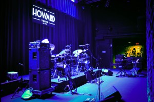 Set-up for the festival in Washington D.C at the Howard Theatre.