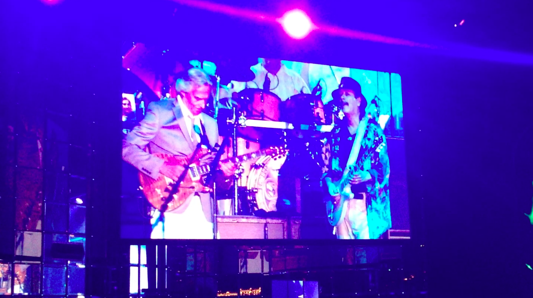 John McLaughlin jamming with Carlos Santana in Monaco- 09/07/13